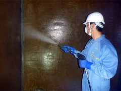 貯水槽清掃作業